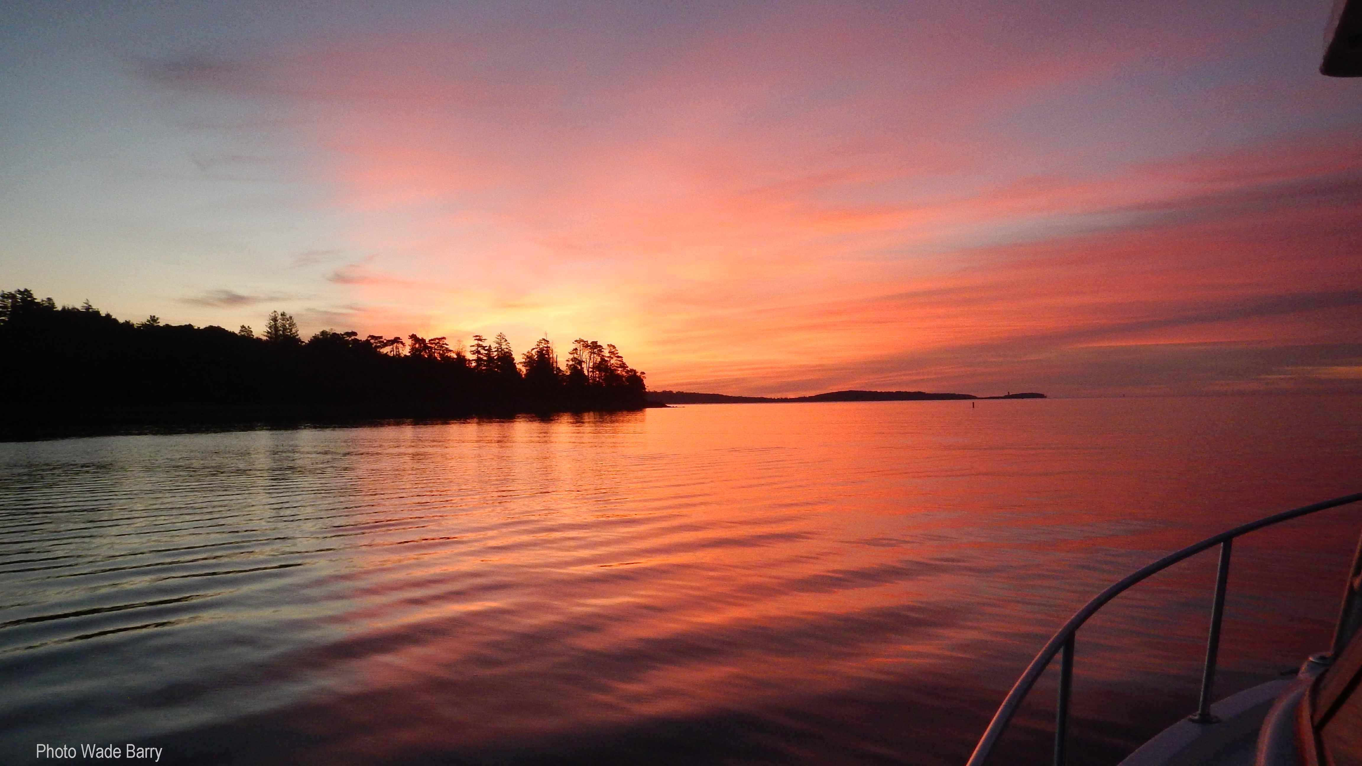 RR fishing sunrise
